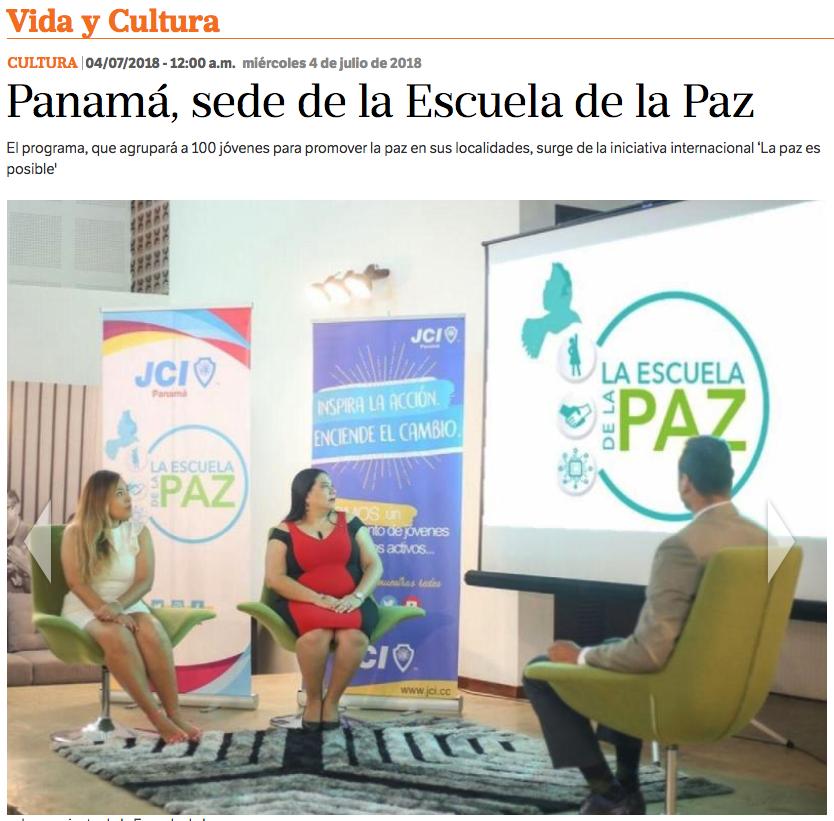La Estrella de Panamá: Panamá, sede de la Escuela de la Paz
