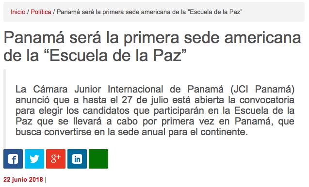 """Panamaon.com: Panamá será la primera sede americana de la """"Escuela de la Paz"""""""