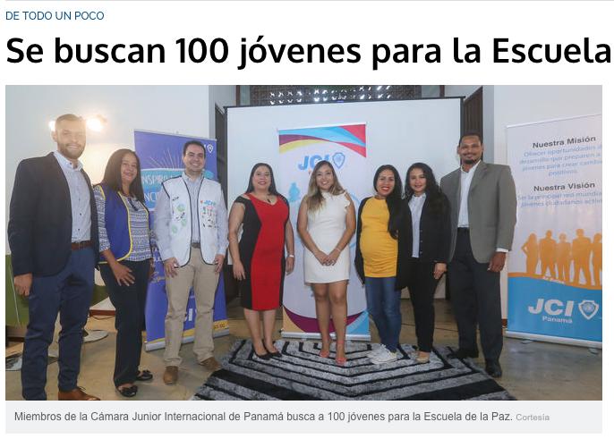 TVN: Se buscan 100 jóvenes para la Escuela de la Paz